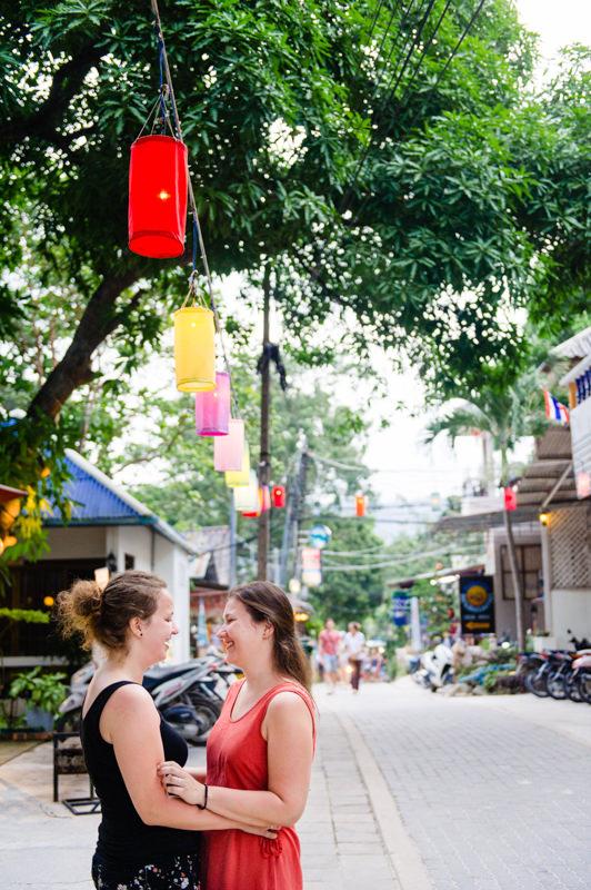 vakantie destination shoot twee vrouwen buitenland reis vakantie
